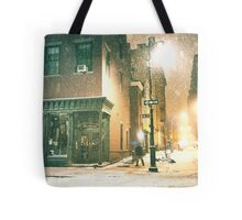 Greenwich Village on a Winter Night - New York City Tote Bag