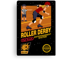 8-bit Roller Derby Canvas Print