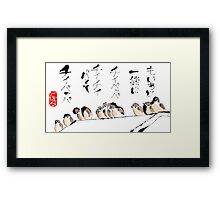 Sparrows on the Roof Framed Print