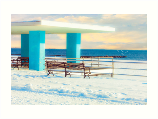 Winter Boardwalk Shelter by Chris Lord