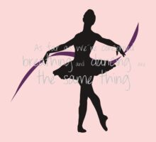 Ballet dancer with cute quote One Piece - Long Sleeve
