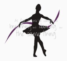 Ballet dancer with cute quote Kids Clothes