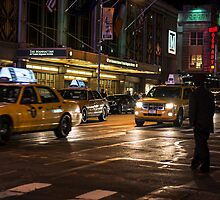 New York at night  by Roberto Pellegrini
