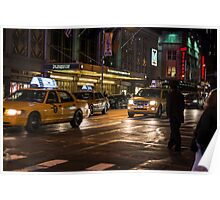 New York at night  Poster