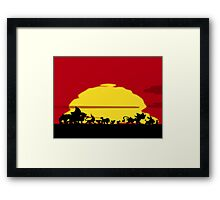 Pyroar King Framed Print