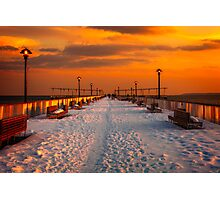 On the Pier In Winter Photographic Print