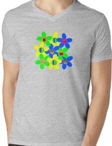 Flower Power 60s-70s Mens V-Neck T-Shirt