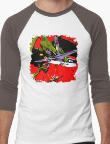 Dino War Men's Baseball ¾ T-Shirt