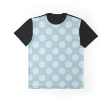 Polka Dots, Spots (Dotted Pattern) - Blue  Graphic T-Shirt