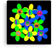 Flower Power 60s-70s Canvas Print