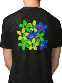 Flower Power 60s-70s T (back) Tri-blend T-Shirt