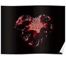 Grunge Broken Heart Poster