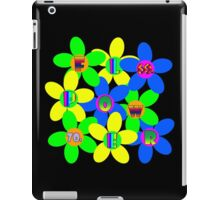Flower Power 60s-70s T (back) iPad Case/Skin