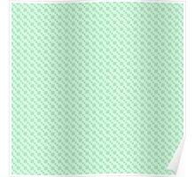 Geometric blue pixel pattern Poster