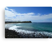 Looking North To Lennox Head Canvas Print
