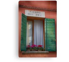 Italian window / Fenêtre italienne Canvas Print