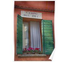 Italian window / Fenêtre italienne Poster