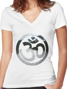 Ohm - Mountains Women's Fitted V-Neck T-Shirt