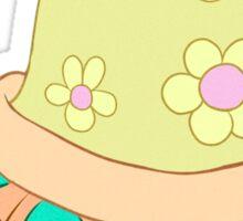 Cutesy Flower Turtle Sticker