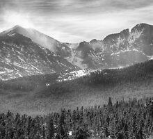 Longs Peak Winter View BW by Bo Insogna