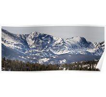 Ypsilon Mountain and Fairchild Mountain Panorama RMNP Poster
