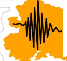 ALASKA EARTHQUAKE ~ GOOD FRIDAY ~ Big AK ~ for dark shirts Sticker