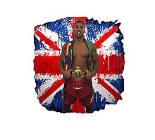 Anthony Joshua Boxing British Flag Photographic Print