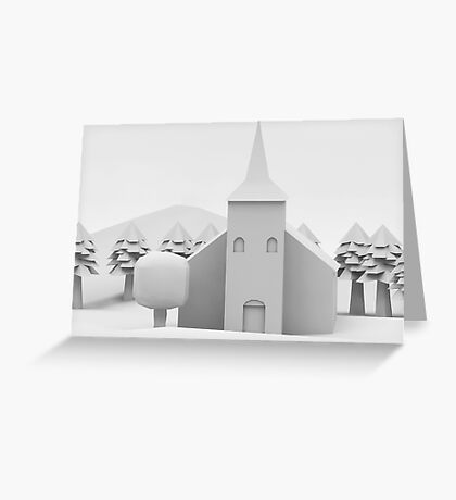 the lonely church Greeting Card