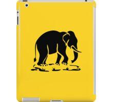 Asian Elephants Ahead / Thai Elephant Trekking Traffic Sign iPad Case/Skin
