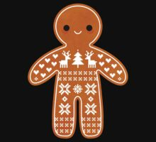 Sweater Pattern Gingerbread Cookie Kids Tee