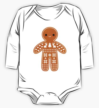 Sweater Pattern Gingerbread Cookie One Piece - Long Sleeve