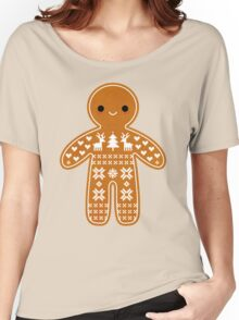Sweater Pattern Gingerbread Cookie Women's Relaxed Fit T-Shirt