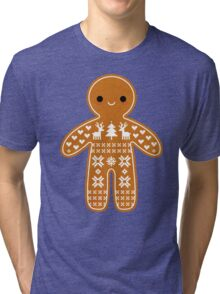 Sweater Pattern Gingerbread Cookie Tri-blend T-Shirt