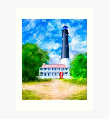Pensacola Lighthouse - Historic Florida Coast Art Print