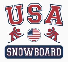 USA Snowboard Team Sochi Olympics T Shirt by xdurango