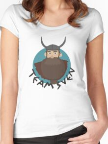 """Defenders of Berk (How To Train Your Dragon) """"Team Sven"""" Women's Fitted Scoop T-Shirt"""