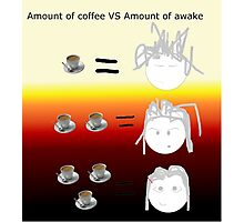 Amount of coffee vs amount of awake Photographic Print