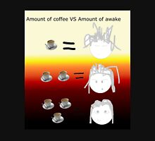 Amount of coffee vs amount of awake Unisex T-Shirt