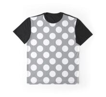 Polka Dots, Spots (Dotted Pattern) - Gray White  Graphic T-Shirt