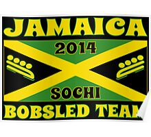 2014 Jamaican Bobsled Team Sochi Olympics T Shirt Poster