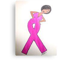 Breast Cancer Awareness Card Metal Print