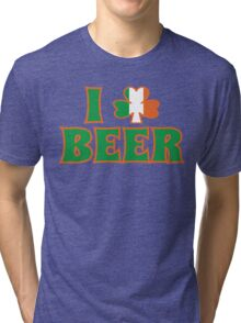 I Love Shamrock Beer St Patricks Day Tri-blend T-Shirt