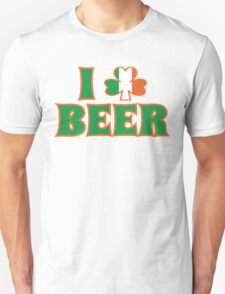 I Love Shamrock Beer St Patricks Day T-Shirt