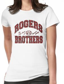 usa new york plaid  by rogers brothers Womens Fitted T-Shirt
