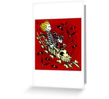 Calvydia and Beetlehobbes (Light Shirts) Greeting Card