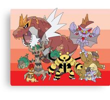 Pokemon X and Y Canvas Print