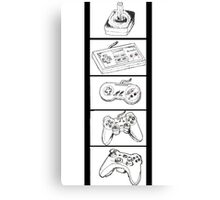 Video Game Controllers Canvas Print