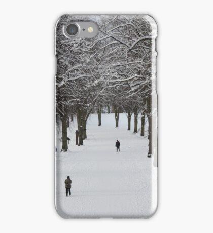 Shrewsbury in the snow iPhone Case/Skin