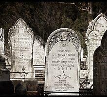 "Graveyard Adornments #25 - "" Jewish Headstones "" by Malcolm Heberle"