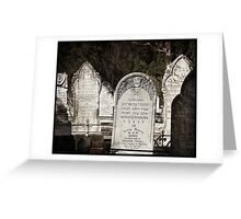 "Graveyard Adornments #25 - "" Jewish Headstones "" Greeting Card"